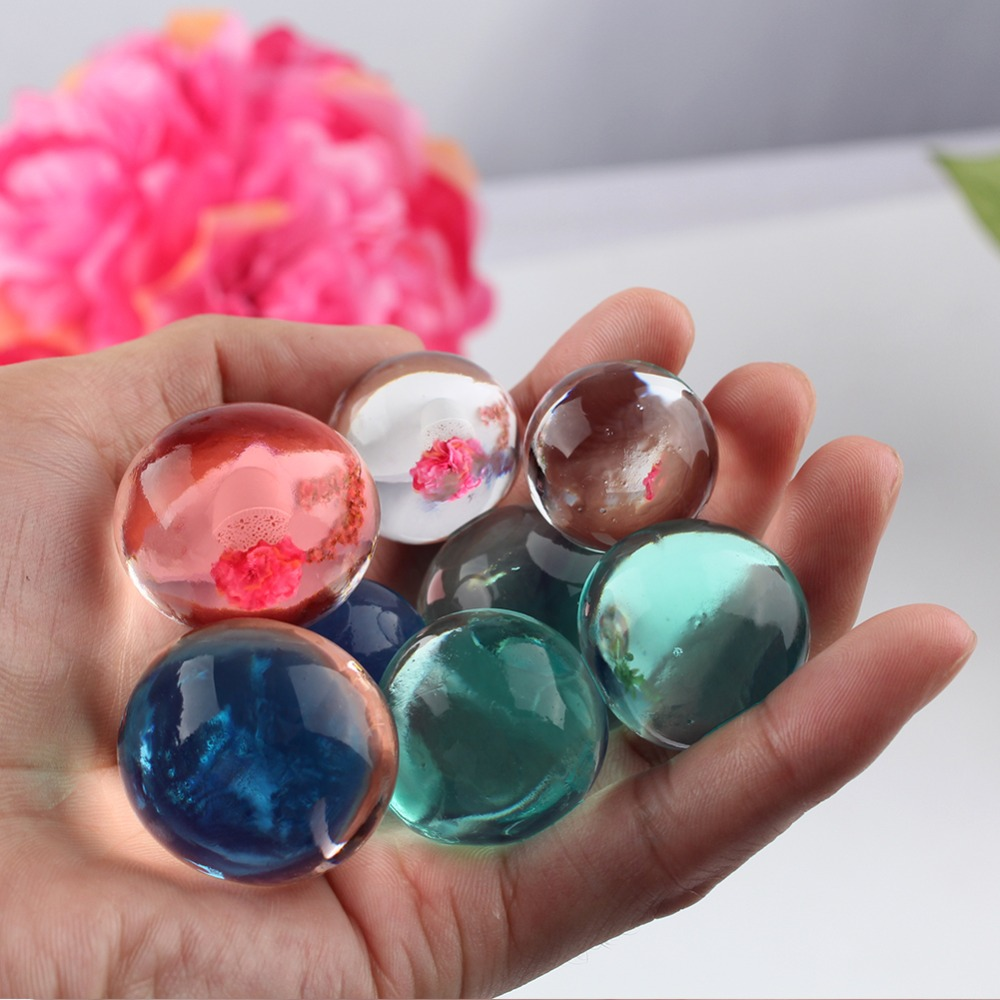 About 150pcs Big Orbiz Growing Bulbs 5-12mm Hydrogel Grow in Water Colorful Water Beads Crystal Soil for Home Decoration