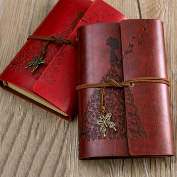 RuiZe creative travel journal book A6 leather notebook diary blank pages school notebook stationery 6 ring binder spiral note цена 2017
