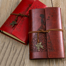RuiZe travel journal notebook vintage leather diary blank kraft paper sketchbook note book with box a best for stationery gift