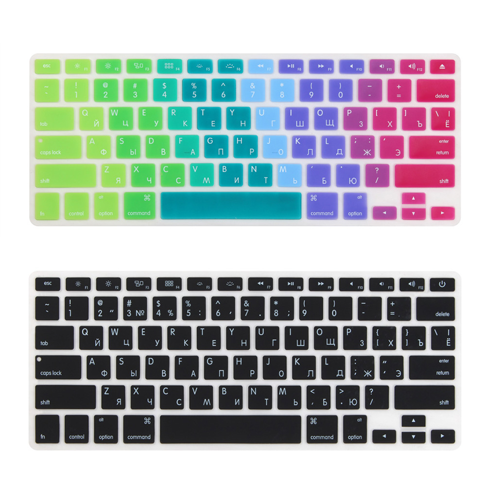 Russian US Enter Keyboard Cover for for Mid 2009-Mid 2015 MacBook Pro 13 15 inch Retina/CD ROM A1502 A1425 A1278 A1398 A1286 russian euro enter keyboard cover for mid 2009 mid 2015 macbook pro 13 15 inch retina cd rom a1502 a1425 a1278 a1398 a1286