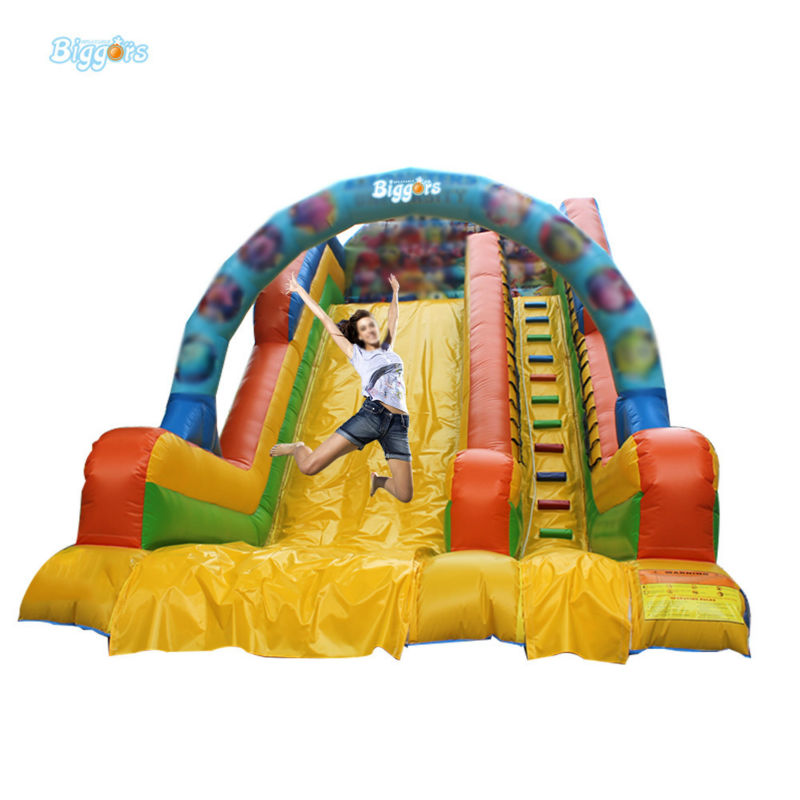 Inflatable Biggors Commercial Grade Inflatable Dry Slide With Arch For Sale inflatable biggors combo slide and pool outdoor inflatable pool slide for kids playing