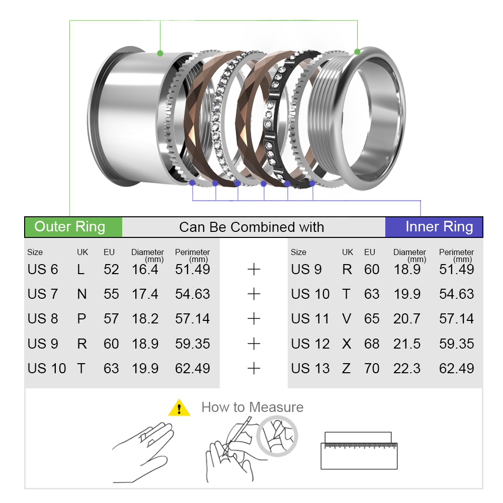 Image 2 - Cremo Silver Stainless Steel Ring For Women Argent Statement Interchangeable Bague Femme Acier Inoxydable Femme Dainty Ring BandRings   -
