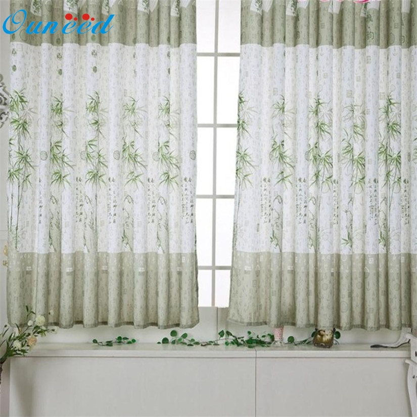 Bamboo Calico Finished Product Cloth Window Screens Curtain 100cm X 200cm