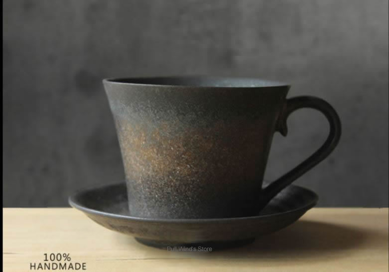 Buy Handmade Coffee Ceramic Cup Retro