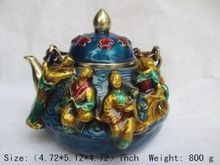 Ming xuande years in ancient China, the eight immortals cloisonne teapot NRR