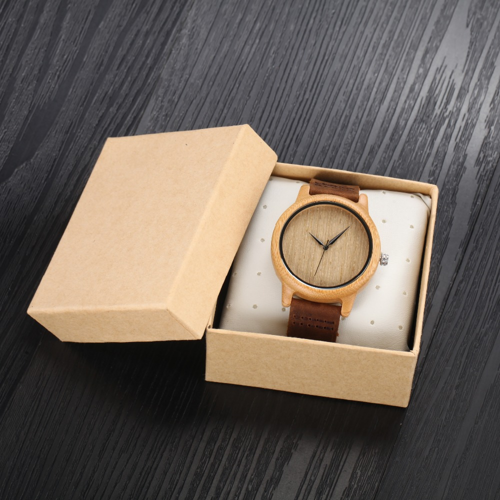2016 Bamboo Wood Watch Fashion Causal Watch Genuine L