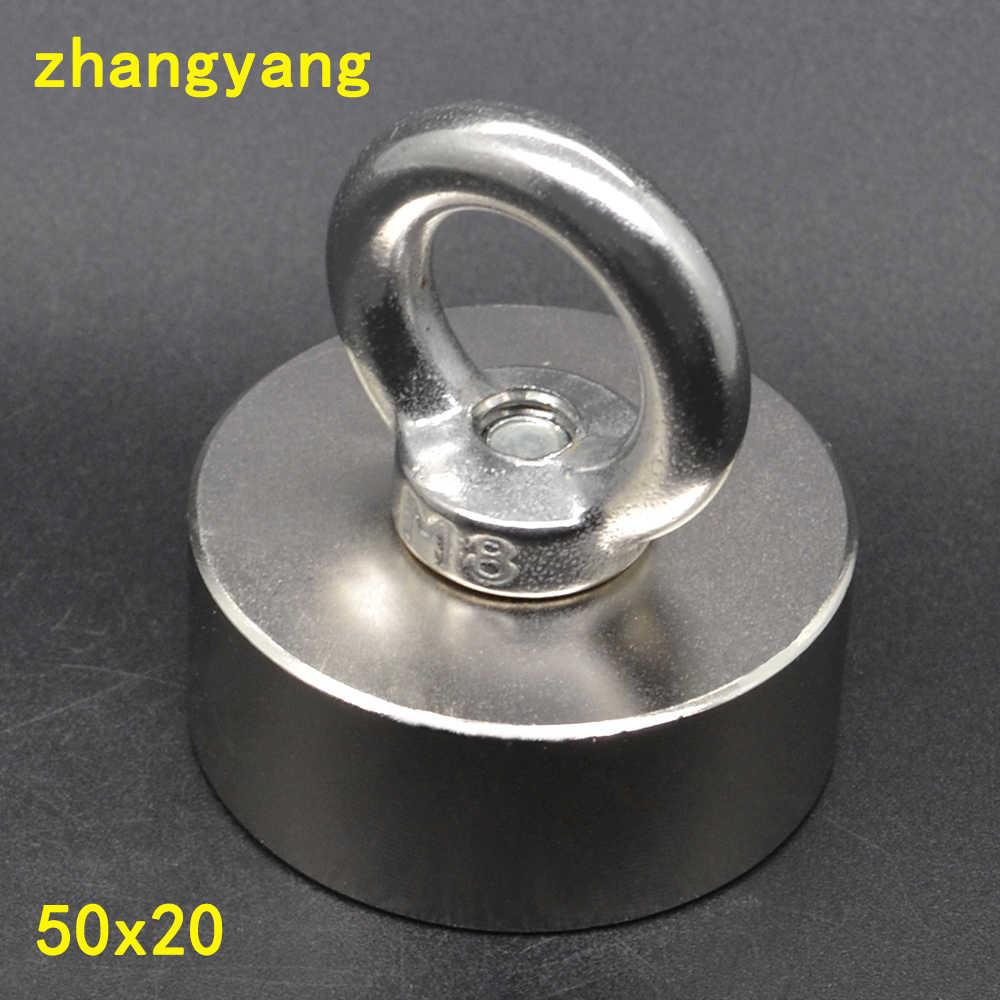 Super mocny silny magnes ziem rzadkich trzymać magnes magnesy neodymowe D 50x20mm 50*20mm deap morze ratownicze urządzenia IMANES