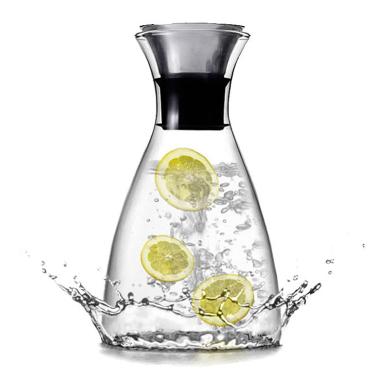 Transparent Glass Drinkware Heat Resistant Teapot For Water Juice Wine Big Capacity With Filter Lid Decanter Home Water Bottles