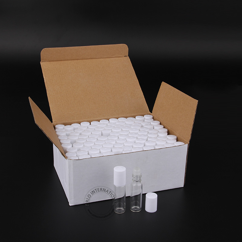 100pcs x 5ml 5cc Empty Glass Roll On Perfume Bottles Cosmetic Containers For Essential Oils Perfume