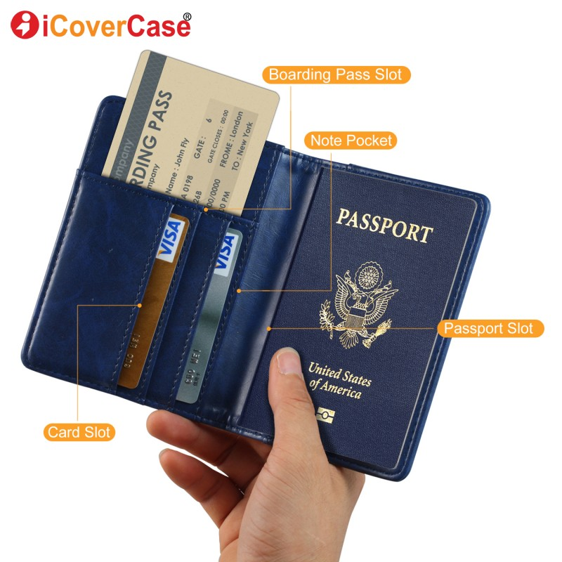 Travel Credit Card Boarding Pass Holder Passport Protective Cover Wallet-Case