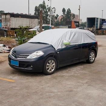 Half Car Cover Sun UV Snow Dust Rain Resistant Durable Covers 3.2Mx1.75M Automobile Accessories For Car Care|half car cover|car cover sun|car covers -