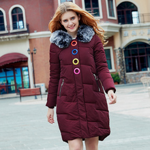 2017 Free Shipping Winter Jacket Women New Hooded Coat Long Wear Down Cotton Pink Black Women's Slim Coats