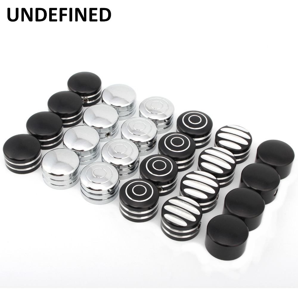 UNDEFINED Motocross Accessories 4X Chrome Spark Plug Head Bolt Cap Covers Plug For Harley Twin Cam Sportster XL883 XL1200 DDD16