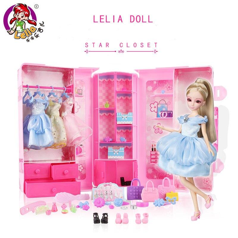 цена на Lelia kawaii Fashion Doll pretend play girls toys dolls Simulation suit Party Dress gift box children kids Girls birthday gifts