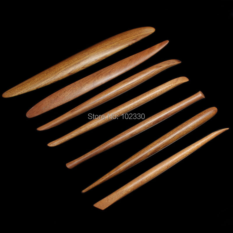 Haut fait main acajou rouge bois argile outils en céramique poterie polymère argile Sculpture modèle Sculpture outils polymorphe Sculpture outils