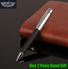 Free Shipping Hero 3052 Leather Ballpoint Pen New Arrival Luxury Business Gift Signature Writing Pen Buy 2 Pens Send Gift стоимость