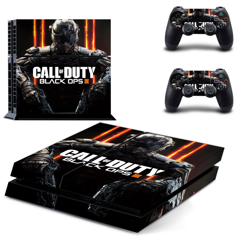 HOMEREALLY PS4 Skin Call of Duty Black Ops III  PVC HD Sticker Cover For Sony Playstaion 4 Console and Controller Ps4 Accessory