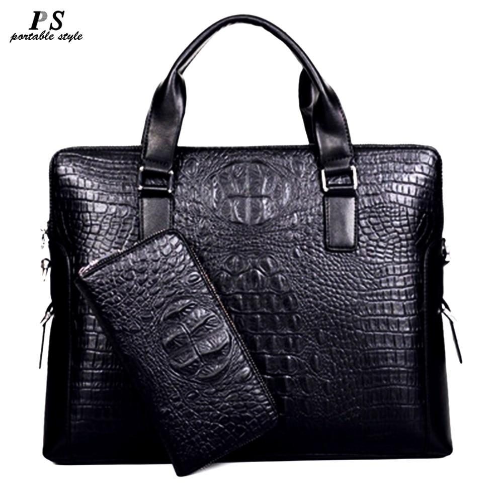 2019 New Men Messenger Bags PU Leather Bag Men Briefcase Designer Handbags High Quality Famous Brand