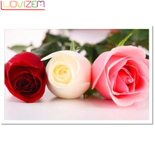 Diamond Painting Florals 5D Diy Cross Stitch Floral Full Embroidery rhinestone Decoration LUOVIZEM
