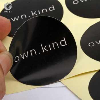 โลโก้ที่กำหนดเองพิมพ์สติกเกอร์ออกแบบที่กำหนดเองพิมพ์ป้ายกาว 1000 ชิ้น/ล็อต
