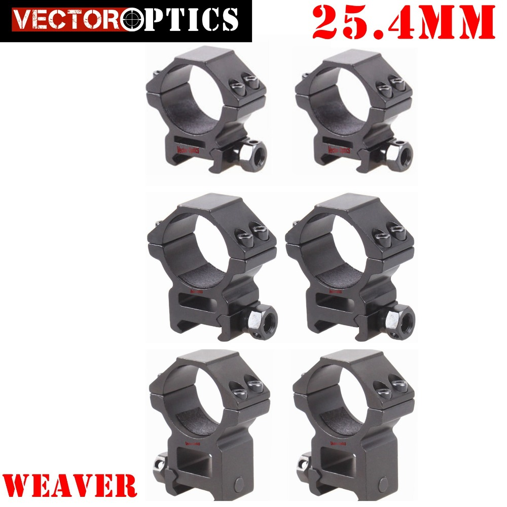 Vector Optics 25mm 1 inch Low / Medium / High Weaver Picatinny Riflescope Mount Ring 4 Bolts Fit Gun Rifle Scopes