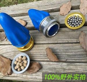 Image 5 - Poket slingshot powerful Aluminum Alloy hunting Bow  Tirachinas Estilingue Silver and gray cup Slingshot mini crossbow