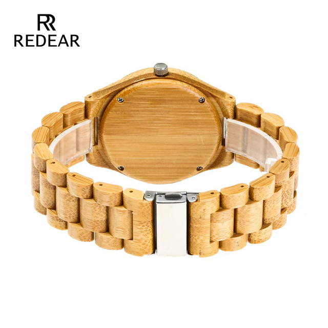 REDEAR Free Shipping Natural Color Bamboo Lover's Watch Men Luxury Wood Band Quartz Ladies Watches