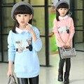 Crianças Sweates Para Meninas Outono Inverno Blusas de Gola Pulôver de Algodão Meninas Dos Desenhos Animados Roupa Da Menina Adolescentes Roupas 3-14Year
