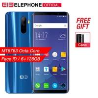 Elephone U 5.99 18:9 Screen 6GB+128G Face ID Mobile phone Android 7.1 MT6763 Octa Core 13MP dual back Camera 4G LTE Smartphone