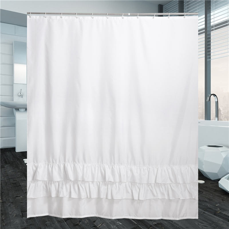 Aliexpress.com : Buy High Qulity White Lace Shower Curtain With Hooks  PatchWork Polyesters Waterproof Shower Bathroom Curtains In The Bathroom  From Reliable ...