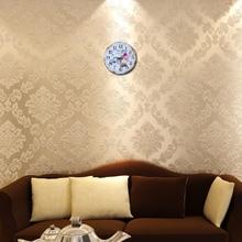 Large decorative circular 3D quart wall clock