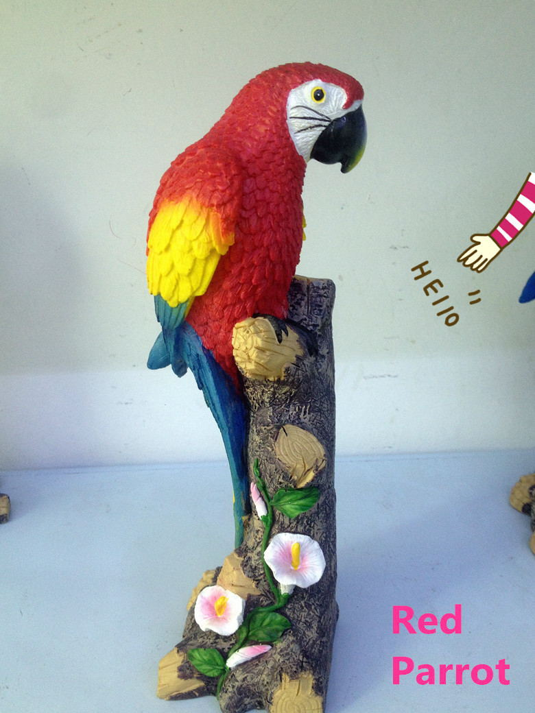 2016 Free Shipping Most Fashion Resin Handcraft Home Decoration Bionic Parrot Plastic Ornaments For Part And