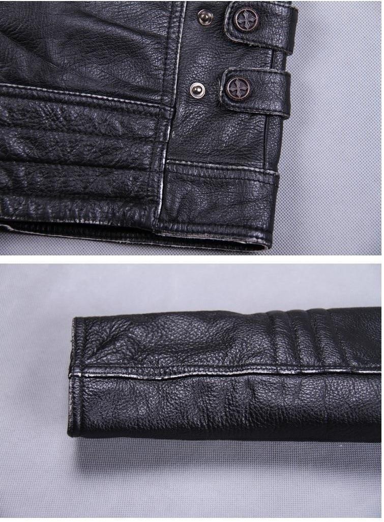 DHL Free shipping.Brand mens skull coat genuine leather Jackets,men's vintage motor biker leather jacket.plus size homme Fitness