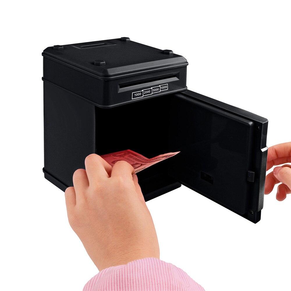 Electronic Piggy Bank ATM Password Money Box Cash Coins Saving Box ATM Bank Safe Box Automatic Deposit Banknote Christmas Gift 20