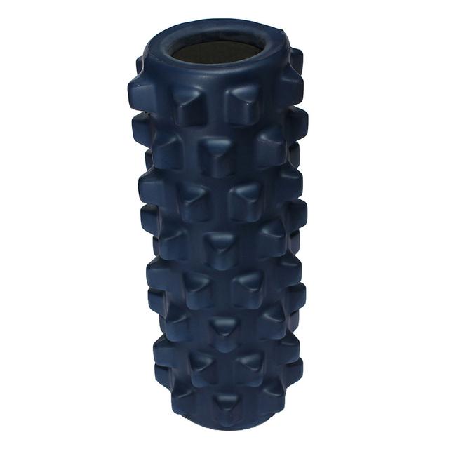 30x15 cm EVA Pilates Gimnasio de Rehabilitación de Fisioterapia Masaje de Rodillos de Espuma De Rejilla de Color Azul Oscuro