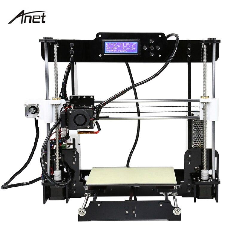 Auto Niveau et Normale A8 Reprap Prusa i3 DIY 220*220*240mm 3D Imprimante Kit avec 1 rouleaux/10 m Filament + 8g SD Carte Vidéo + Outils