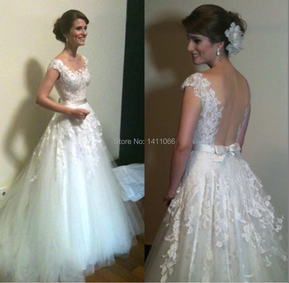 high neck see through bridal dress cap sleeves top designer wedding gowns floor length vestido de