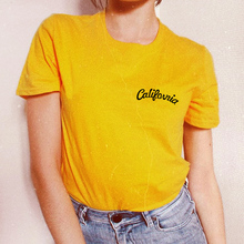 387efbb52c1c 2018 California Fashion T-shirts for women Tops Cotton Summer Short Sleeve  California Print Casual female T-shirt Top tees White