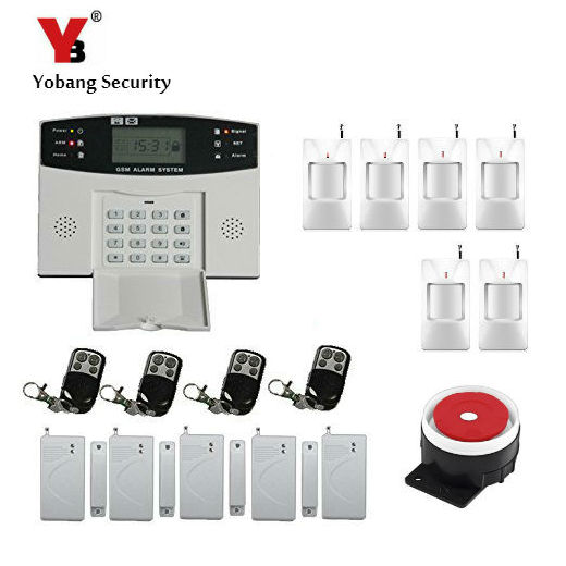 YoBang Security Russian Spanish Ltalian Language Wireless Line GSM Home Security System Metal Remote Control Motion Detector Kit ...