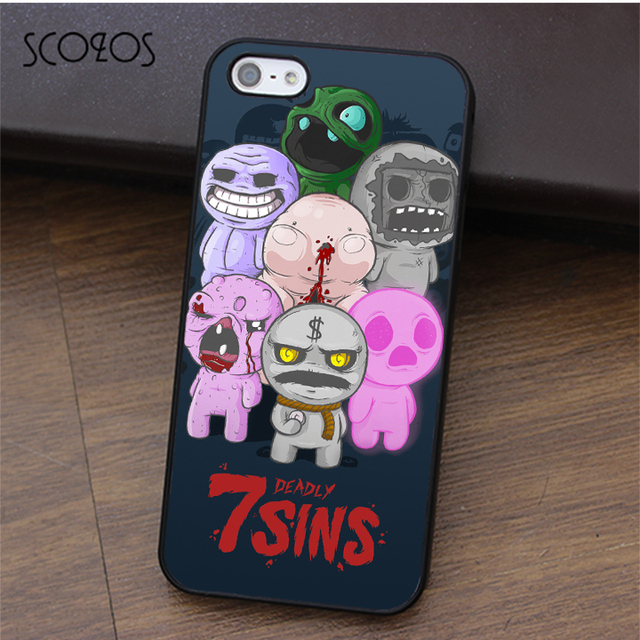 d53c8fa935dac5 SCOZOS 7 Deadly Sins The Binding of Isaac phone case for iphone X 4 4s 5 5s  Se 5C 6 6s 7 8 6 6s plus 7 plus 8 plus  fa08