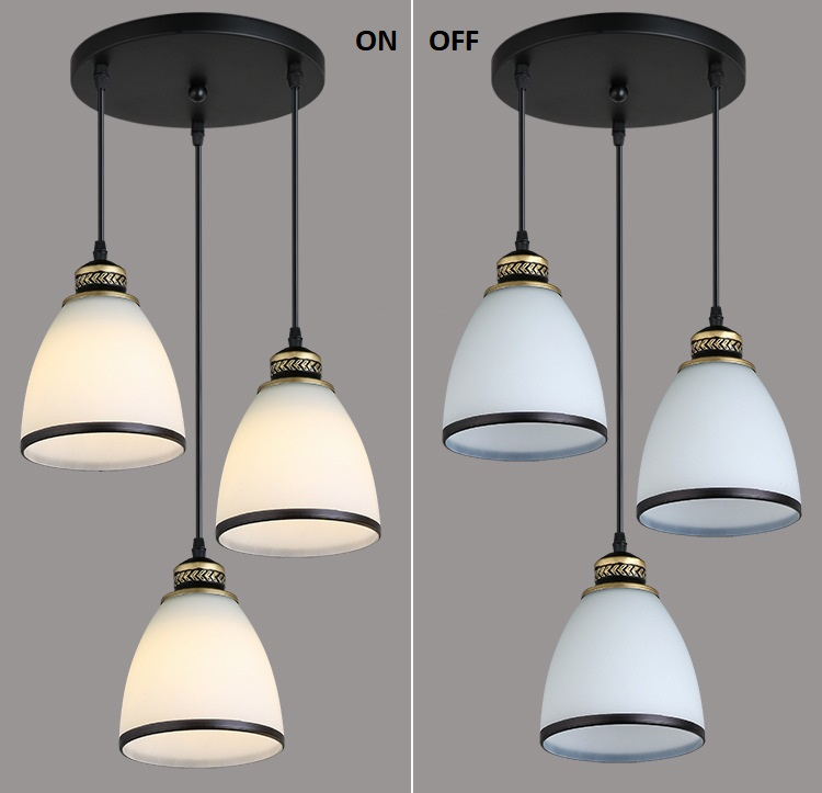 Modern Minimalist Set of 3 Kitchen Island Dining Room Glass Pendant Light (12)