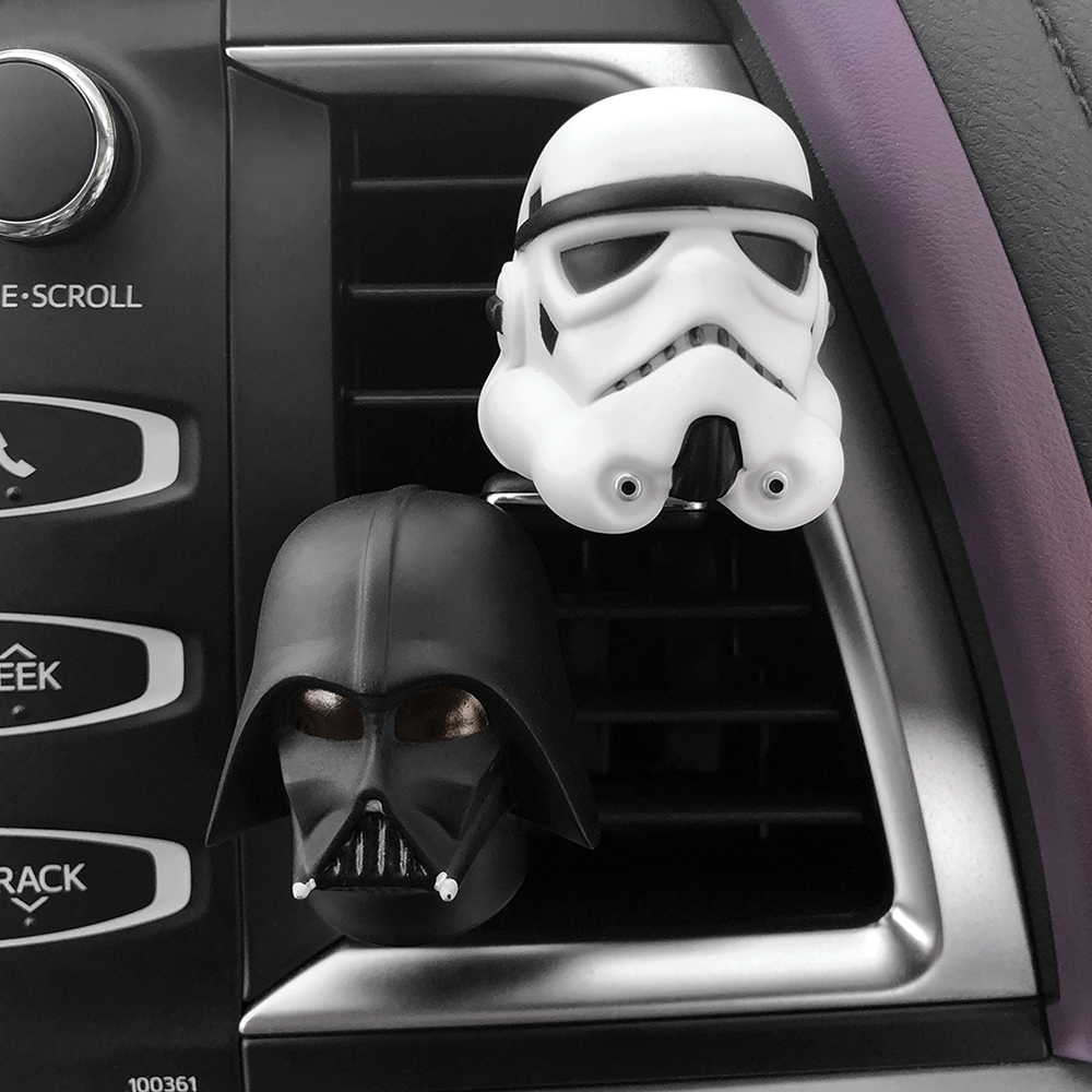 Car Perfume Smell Vent Clip Air Freshener For Star Wars Darth Vader White Stormtroopers Flavoring in Automobile Accessories Gift car outlet perfume air freshener with thermometer lime