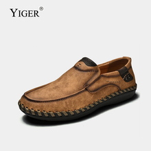 YIGER New Men Loafers Man Boat shoes Casual mens formal wear handmade business large size slip-on 274