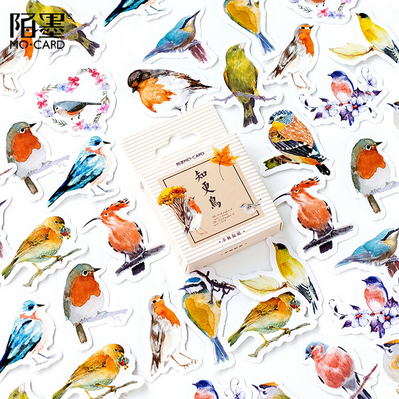 45 Pcs/Box Beautiful Bird Mini Decoration Paper Sticker Decoration DIY Album Diary Scrapbooking Label Sticker Kawaii