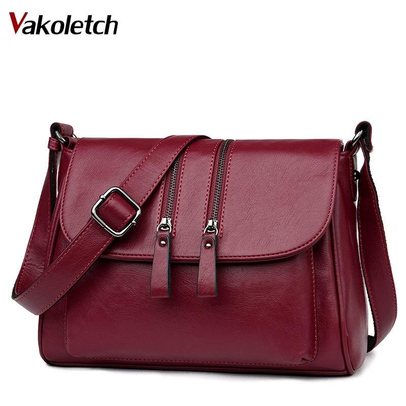 2005425fcfcf High Quality Female Bags 2019 New Double Zipper Women Messenger Bags Soft  Women Crossbody Bag Designer Pu Leather Handbags KL383 - aliexpress.com -  imall. ...