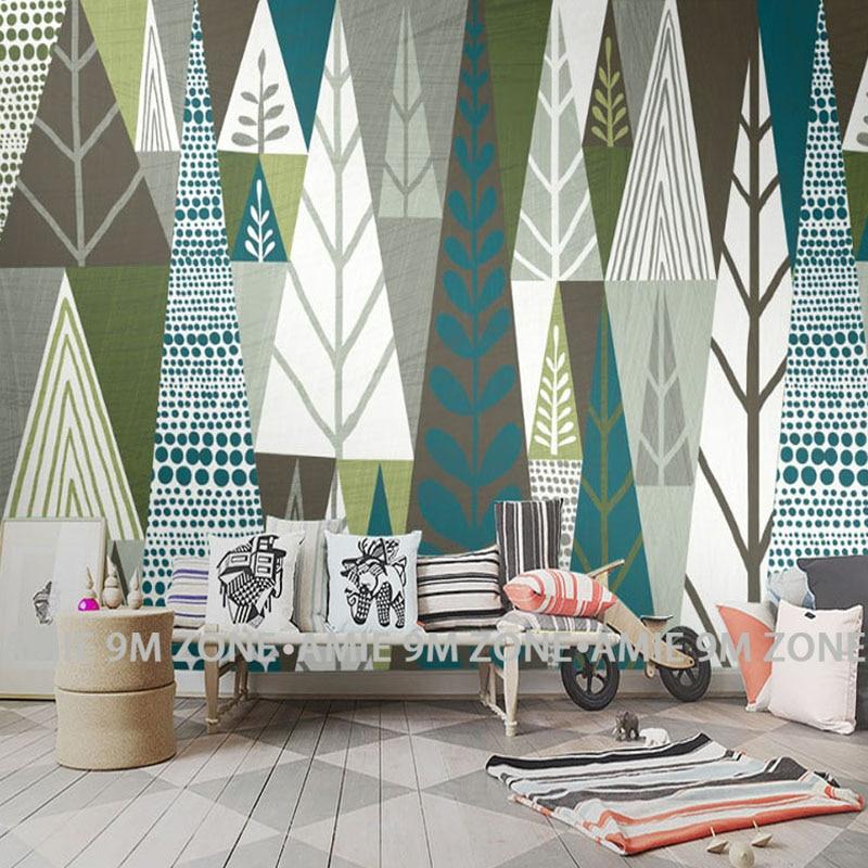 Tuya Art Abstract Geometric Tree Texture Mural Wall