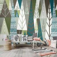 Tuya Arte Abstrata geométrica textura árvore mural fundo da parede decoração sala de estar mural wallpapers desconto frete grátis