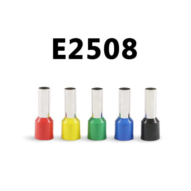 E2508 Tube insulating terminals 2.5MM2 100PCS/Pack Insulated Cable Wire Connector Insulating Crimp Terminal