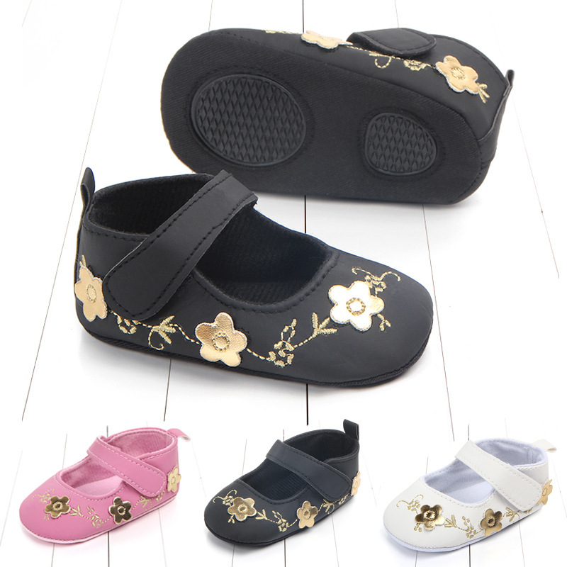 0 1 Year Baby Shoe Semi Rubber Bottom Lovely Baby Study Walking Shoes Pu Small Leather Shoes Step Front Shoe 2022