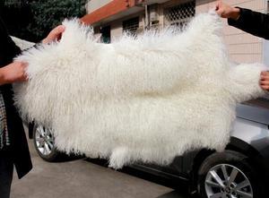 Cabelo comprido Curly Cordeiro Fur Pelt/Placa de Peles de Cordeiro da Mongólia/Acabados Pele De Cordeiro